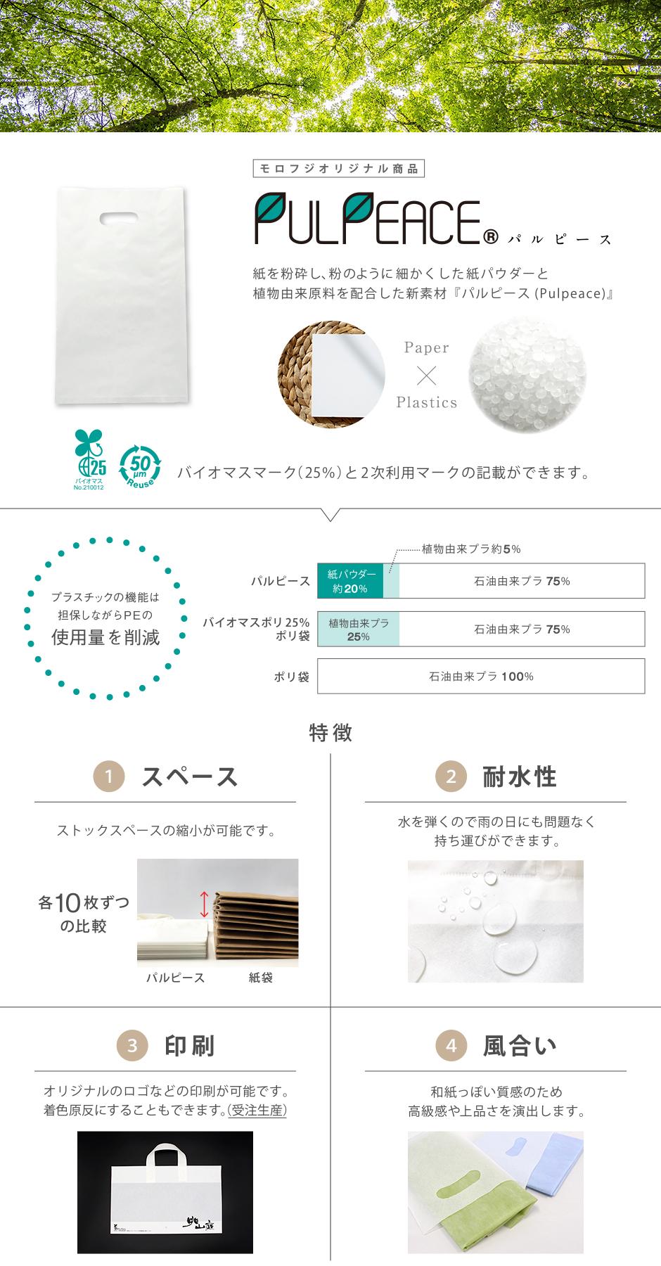 株式会社モロフジのオリジナル商品パルピースの紹介