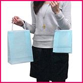 【ポリ袋】プラハンドルバッグ(チェック柄)